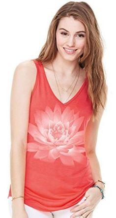 Yoga Clothing For You Ladies Lotus Flower Flowy Tank Top  Price : $22.99 - $24.99 http://yogaclothingforyou.hostedbywebstore.com/Yoga-Clothing-For-You-Ladies/dp/B00OZU7AQ8