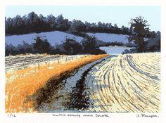 "Items similar to Original Irish Landscape Art Print - Limited Edition Screenprint - Suitable Irish Art Gift - ""Winter Morning near Donore"" on Etsy Landscape Prints, Landscape Art, Landscape Paintings, Landscapes, Irish Landscape, Ireland Landscape, Painting Snow, Irish Art, Snow Scenes"