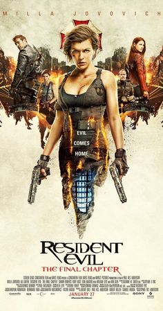 Directed by Paul W.S. Anderson.  With Ruby Rose, Milla Jovovich, Ali Larter, Iain Glen. Picking up immediately after the events in Resident Evil: Retribution, Alice (Milla Jovovich) is the only survivor of what was meant to be humanity's final stand against the undead. Now, she must return to where the nightmare began - The Hive in Raccoon City, where the Umbrella Corporation is gathering its forces for a final strike against the only remaining survivors of the apocalypse.
