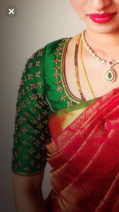 60 ideas for fashion clothes women ideas color combos Wedding Saree Blouse Designs, Pattu Saree Blouse Designs, Blouse Designs Silk, Designer Blouse Patterns, Wedding Blouses, Designer Dresses, Wedding Dresses, Simple Blouse Designs, Stylish Blouse Design