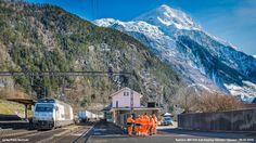https://flic.kr/p/E8h6iR | Railcare 465 016-4 at Amsteg-Silenen | Railcare (BLS) 465 016-4 crossing the railway station Amsteg-Silenen. Silenen, March 9th, 2016