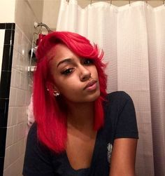 Healthy Tips For Getting Your Hair In Great Shape Teen Girl Hairstyles, Chic Hairstyles, Baddie Hairstyles, Pretty Hairstyles, Medium Hairstyles, Red Weave Hairstyles, Hairstyles Pictures, Hairdos, Updos