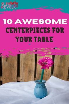 Sharing you awesome centerpieces you will surely love. An awesome centerpiece is a mini-installation that makes your table instantly feel like a party. Whether it's a massive weekend hoopla, or a Tuesday night dinner party, this collection of DIY centerpiece ideas will cover your table in the most awesome of style. Check this pin for amazing ideas! #centerpiece #amazingcenterpiece #centerpieceideas #centerpiecediy