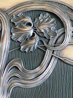 Art Nouveau - Porte Documents - Décor 'Cadre' Argent Impérial Russe - 1898-1908