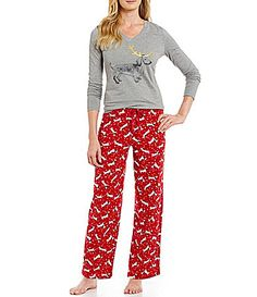 Sleep Sense Get Cozy Reindeer Dog Packaged Christmas Pajamas #Dillards
