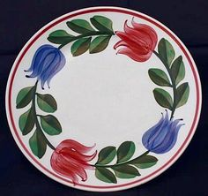 Southern Pottery, Erwin, Tennessee; Blue Ridge Dinnerware patterns - Tulip Buds