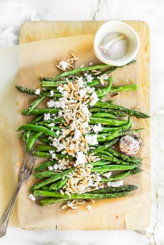 Warm Green Beans and Asparagus Salad