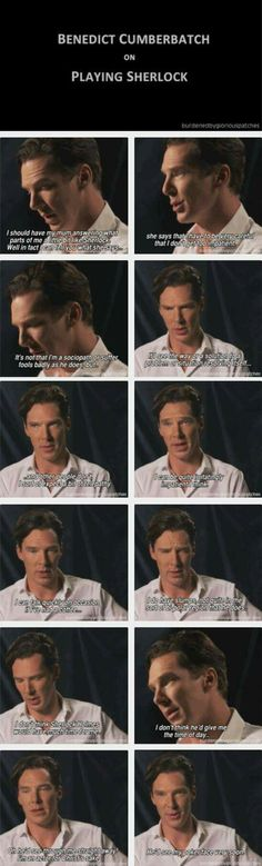 I LOVE that he says Sherlock is kind of Bipolar...