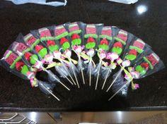 brochetas de golosinas gominolas chucherías - candy gummy bouquet