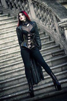 Goth girl in latex