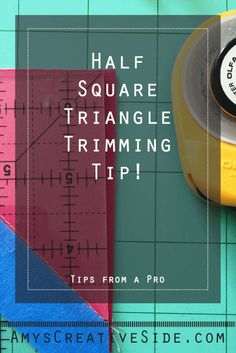 Half Square Triangle Quick Trimming Tip - AmysCreativeSide.com