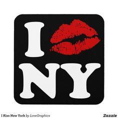 I Kiss New York Beverage Coasters