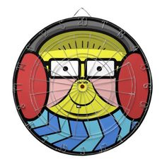 Cold Face Dartboard - drawing sketch design graphic draw personalize