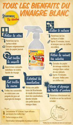 Infographie : les bienfaits du vinaigre blanc Plus