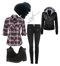 """Chilly Wear"" by marshalee9223 ❤ liked on Polyvore featuring Paige Denim, Timberland, Coal and MaBelle"