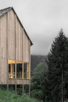 Bernardo Bader, Gustav Willeit  Haus am Stürcherwald Laterns Austria Holidays in a timber house
