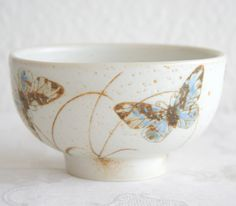 Royal Copenhagen Diana Butterfly Bowl NILS THORSSON 1051/5316 Danish Design Denmark Porcelain Stoneware Art Pottery Ceramics 1975-79