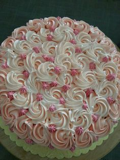 rosette icing cake