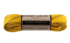 Derby Waxed Laces (Yellow)
