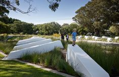 Lakeway Redevelopment by HASSELL « Landscape Architecture Platform Types Of Mulch, Types Of Grass, Architecture Details, Landscape Architecture, Landscape Design, Low Maintenance Garden Design, Public Realm, Ground Cover Plants, Street Furniture