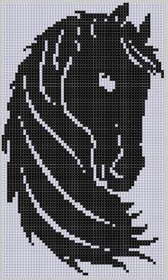 Horse Head Cross Stitch Pattern