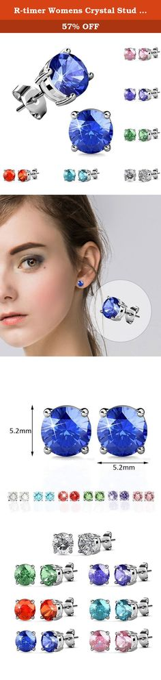 R-timer Womens Crystal Stud Earrings with Swarovski Elements Platinum-plated Wedding Jewelry Set 7 Pairs (Round-claw setting). About R-timer Jewelry R-timer is not only a fashion jewelry brand, but also a kind of attitude to life. It means LOVE EXQUISITE LIFE, we hope every piece of our jewels can express thinking in your mind and wish all the wearers as beautiful as they want inward and outward with positive power. R-timer always spare no efforts to make beautiful jewels and satisfying...