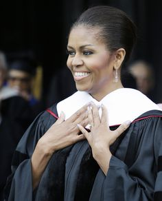The most inspiring celeb commencement speeches: Michelle Obama.