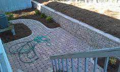 Permeable patio - Emerald Isle  by Grants Creek Nursery  www.grantscreeknursery.com