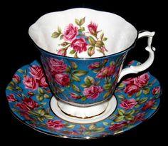 Royal Albert Harewood Teacup and Saucer -- Nice Color Combination.
