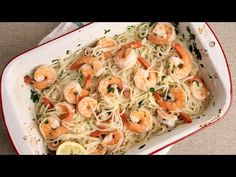Roasted Shrimp Scampi Recipe - Laura in the Kitchen - Internet Cooking Show Starring Laura Vitale
