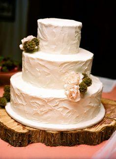 simple cake + tree truck cake stand    Kristin Sweeting #wedding