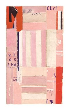 """Intermezzo-05,"" a collage by Lisa Hochstein, made of salvaged paper"