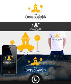 Logo for Curious Worlds Logo Branding, Logos, World, Movie Posters, Movies, Travel, The World, 2016 Movies, Voyage