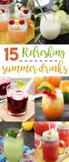 """<span style=""""font-weight: 400"""">When summer is in full swing and it's hotter than hot, nothing cools you down like a refreshing summer drink! So when water sounds boring, try one of these family-friendly fruity drinks and enjoy those long summer days!</span>"""