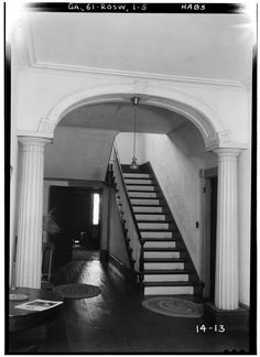 5.  Historic American Buildings Survey Branan Sanders, Photographer March 1934 INTERIOR- STAIRHALL - Bulloch Hall, Roswell, Fulton County, GA | Library of Congress