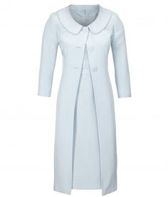 Ice blue dress and frock coat