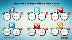 Você sabe qual o melhor horário para postar? midiaboom.com.br/... #redessociais #marketingdigital #marketingconteudo #post #facebook #twitter #google+ #linkedIn #pinterest #Blog #digitalmarketing #contentmarketing