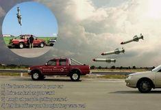 Falsos misiles / evitar multa por alta velocidad