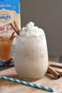 Frozen Vanilla Chai Tea Latte - super easy recipe with only 2 ingredients!