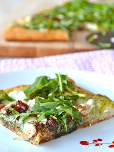 Getting very hungry! Arugula Pizza - Mother Thyme