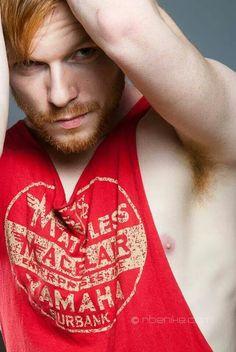 Sleeveless Red Shirt