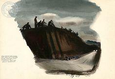 Millard Sheets (1907-1989) - Homesick Boys, 1941