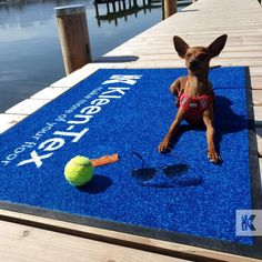 What are you planning for the weekend? We hope you can enjoy some great weather and relax by the water like Mila. ☀ #KleenTexEurope #Vacation #Sun #Travel #MakeMoreofYourFloor