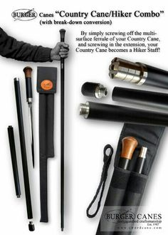 For the Finest Hand Crafted Sword Canes, Custom Canes, Walking Sticks and Hiking Staffs. Wooden Walking Sticks, Walking Sticks And Canes, Walking Canes, Survival Tools, Survival Prepping, Survival Stuff, Ricky Y Morty, Custom Canes, Hidden Weapons