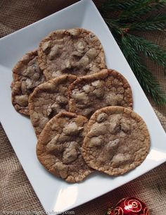 "Chocolate Chunk Nutella ""Collapsidie"" Cookies: With chocolate chunks and Nutella stirred in, these cookies will make a decadent addition to your holiday cookie plate."