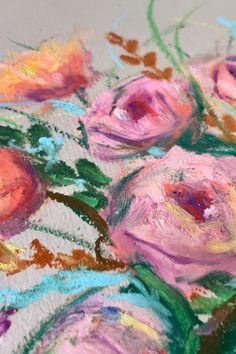 Oil Pastel Art, Oil Pastel Drawings, Oil Pastels, Maria Emilia, Oil Pastel Techniques, Online Art Courses, Wax Art, Floral Drawing, Drawing Practice