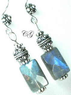 The Jewelry Blog - earrings of labradorite