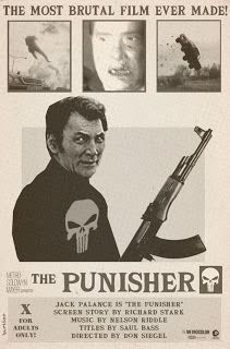 HARTTER: ALTERNATE UNIVERSE MOVIE poster: Jack Palance as The Punisher?! Sign me up!