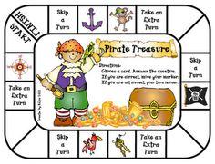 """Pirate Treasure"" game-for ""ar"" sound Preschool Pirate Theme, Pirate Activities, Pirate Games, Library Activities, Speech Activities, Activities For Kids, Jack Le Pirate, Pirate Day, Pirate Birthday"