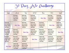 Happy Monday everyone! I got great news!! I am starting a 30 day ab challenge today. Who's in with me?